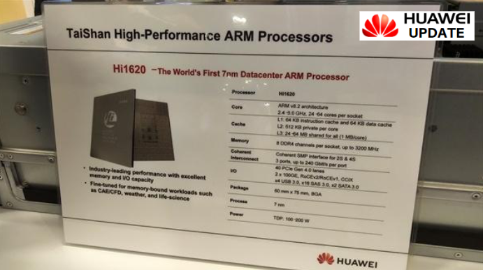 Huawei HiShip Hi1620 chip released in 7nm process ARM