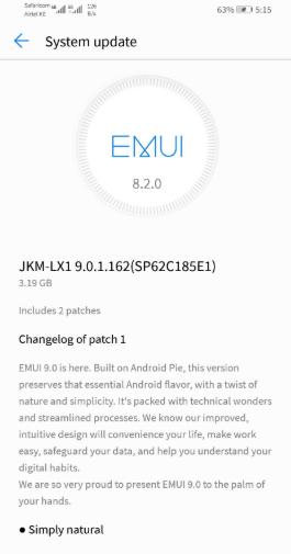 Huawei Y9 (2019) Getting Android 9 0 Pie (EMUI 9) - Huawei Update