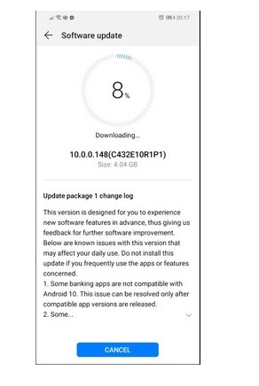 Huawei Mate 20 Lite getting EMUI 10 update
