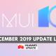 EMUI 10 December 2019 Update List