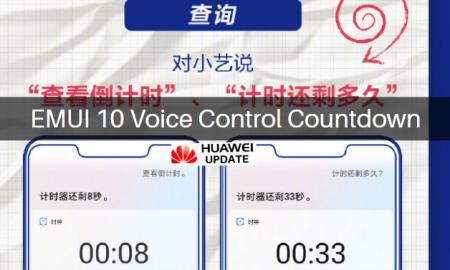 EMUI 10 voice control countdown
