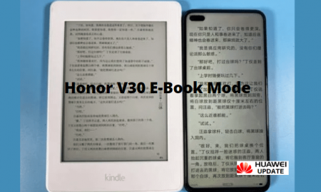 Honor V30 is getting a new e-book mode