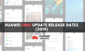 Huawei EMUI update release dates