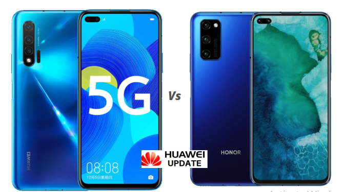 Huawei Nova 6 5G vs Honor V30 Pro 5G