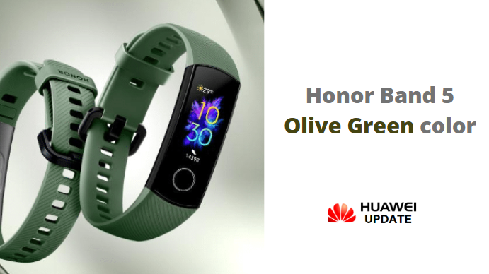 Olive Green color honor band 5