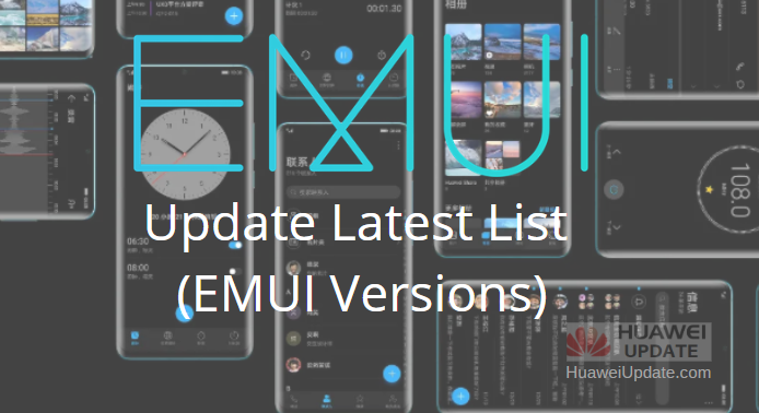 EMUI 10 Update List