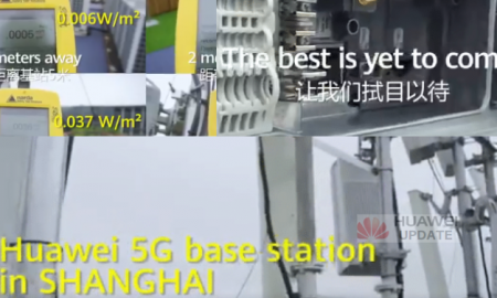 Huawei 5G base station in Shanghai