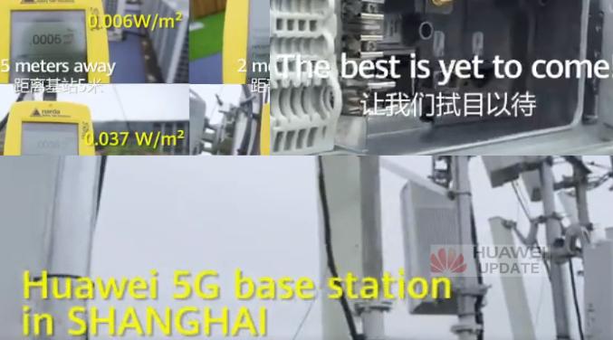 Huawei 5G base station in Shanghai