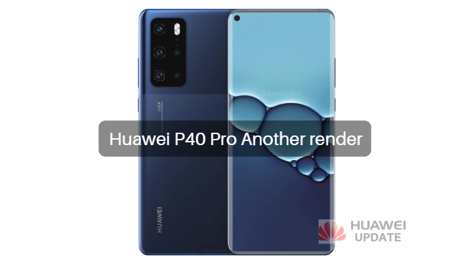 Huawei P40 Pro another render