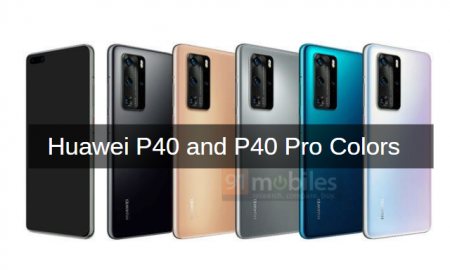 Huawei P40 and P40 Pro colors