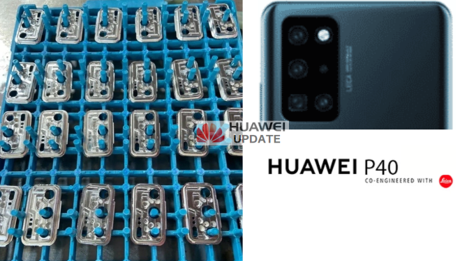 Huawei P40 camera component leaked