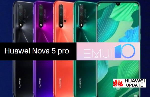 Huawei nova 5 pro EMUI 10