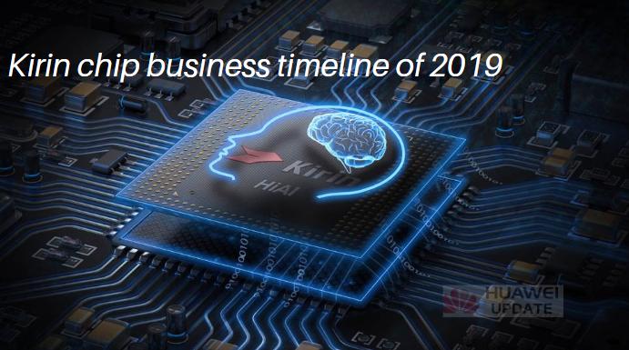 Kirin chip business timeline of 2019