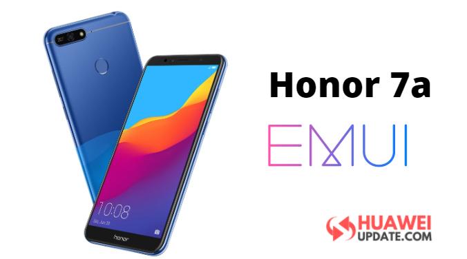 Honor 7a EMUI update