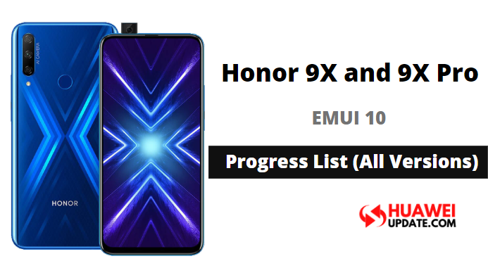 Honor 9X and 9X Pro EMUI 10