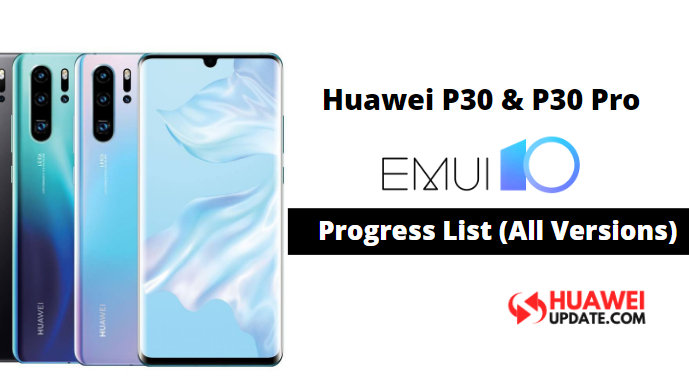 Huawei P30 and P30 Pro EMUI 10 updates