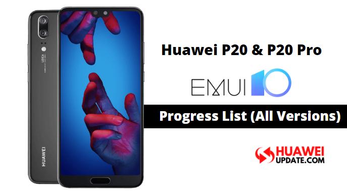 Huawei P20 and P20 Pro EMUI 10 updates