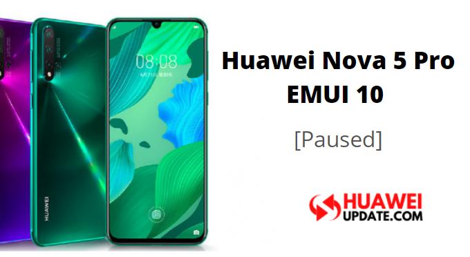 nova 5 Pro EMUI 10 paused
