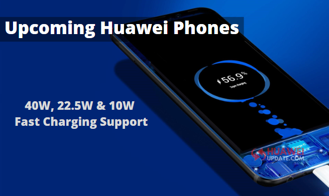 40W, 22.5W And 10W Fast Charging Support Huawei Phones