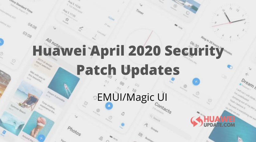Huawei April 2020 Security Patch Updates List