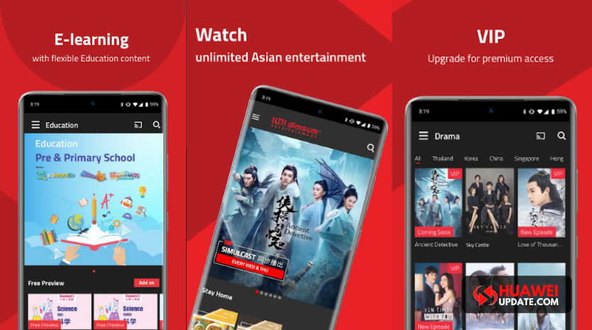 Dimsum Entertainment now available on Huawei Video