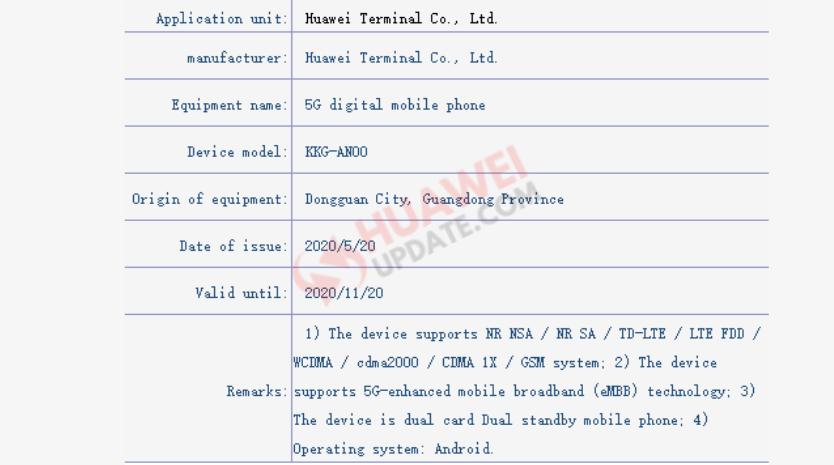 Huawei KKG-AN00