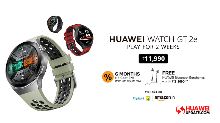 Huawei Watch Gt 2e Launched In India Deal Offers Free Bluetooth Earphones Worth Rs 3 990 Huawei Update