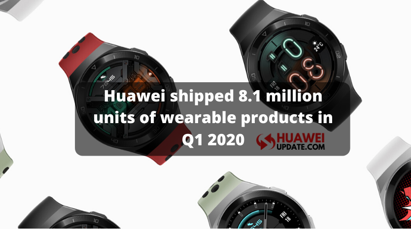 Huawei shipped 8.1 million units of wearable products in Q1 2020