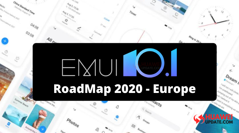 Huawei EMUI 10.1 2020 roadmap for Europe