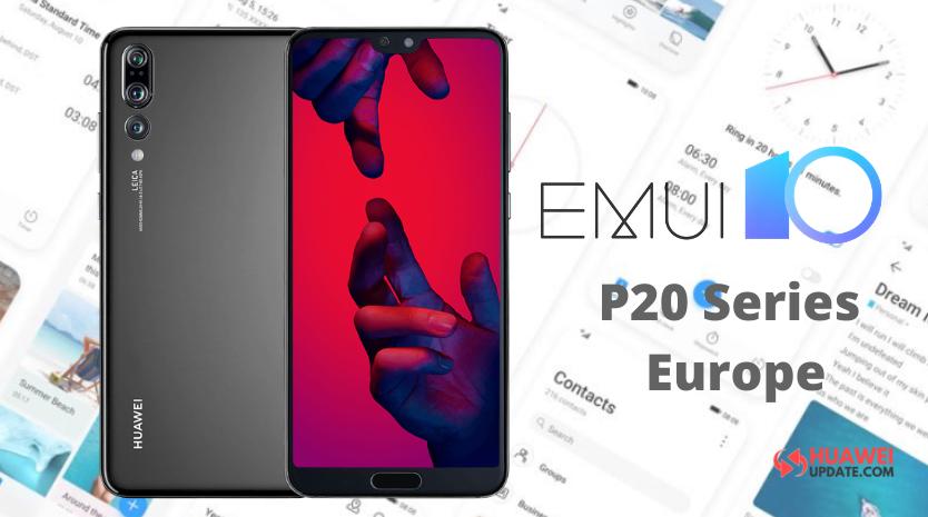 Huawei P20 series EMUI 10 in Europe