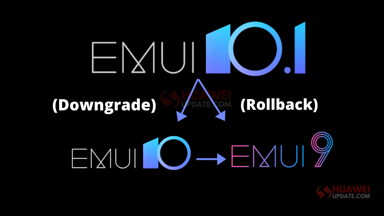 How to downgrade EMUI 10.1 to previous version