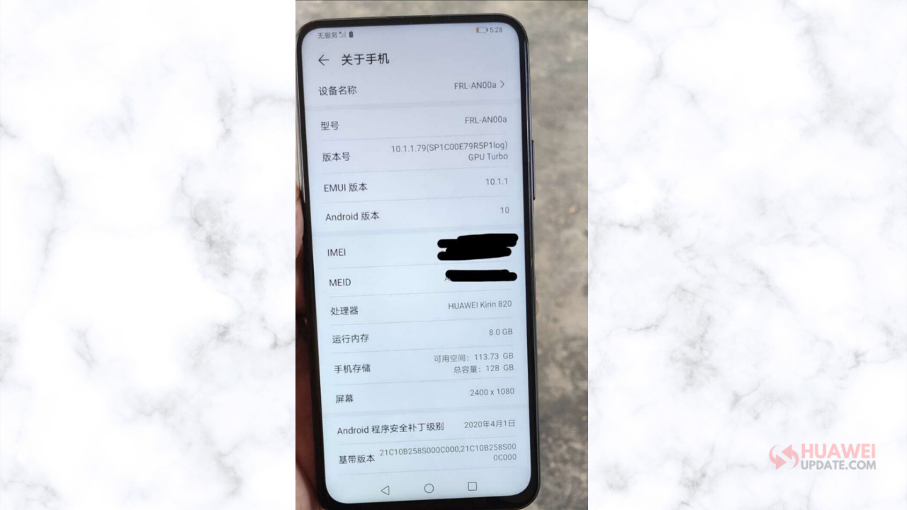 Huawei FRL-AN00a live image