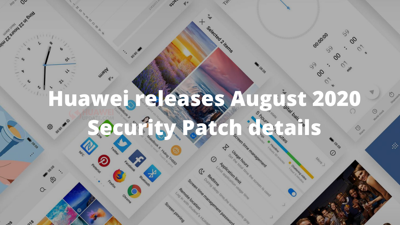 Huawei releases EMUI and Magic UI August 2020 security patch details