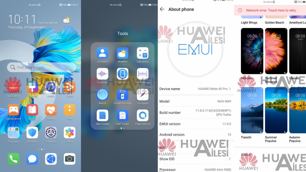 Huawei Mate 40 Pro Interface