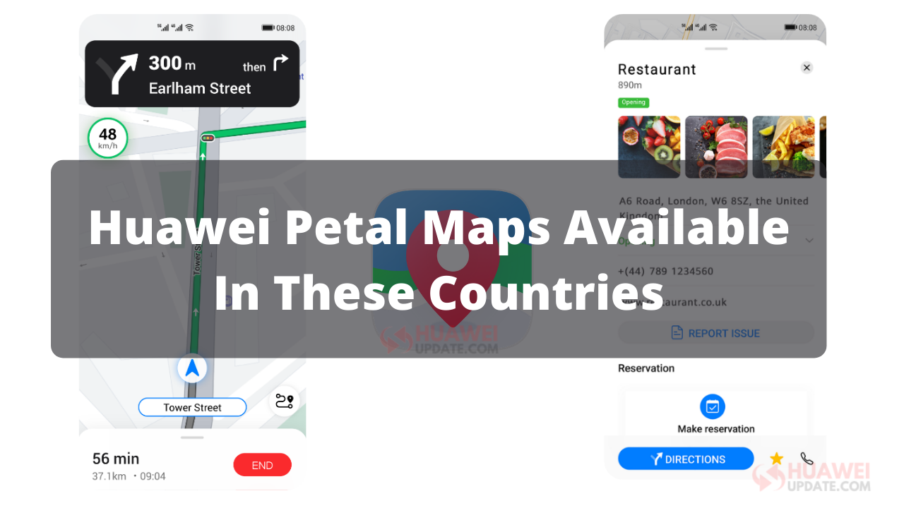 Huawei Petal Maps Countries