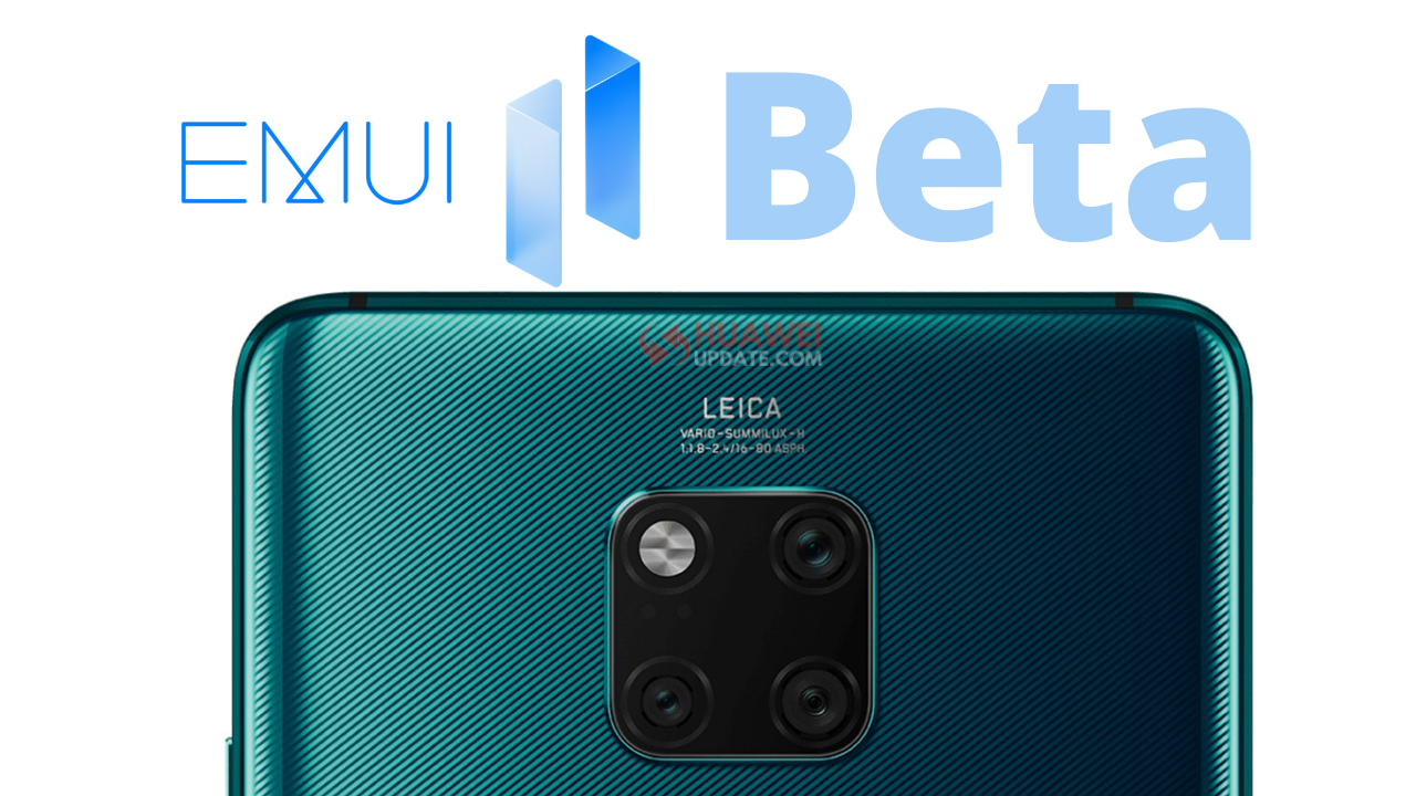 Mate 20 Series EMUI 11 internal beta