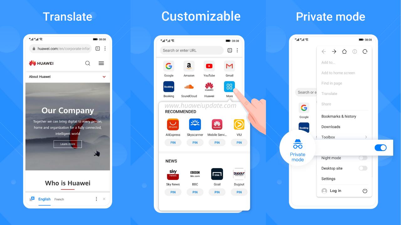 Huawei Browser App Update