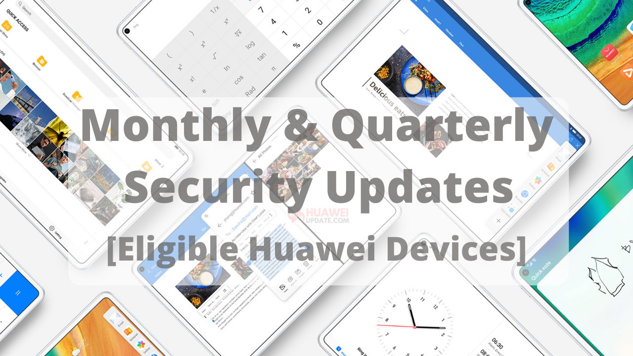 Monthly and Quarterly security updates