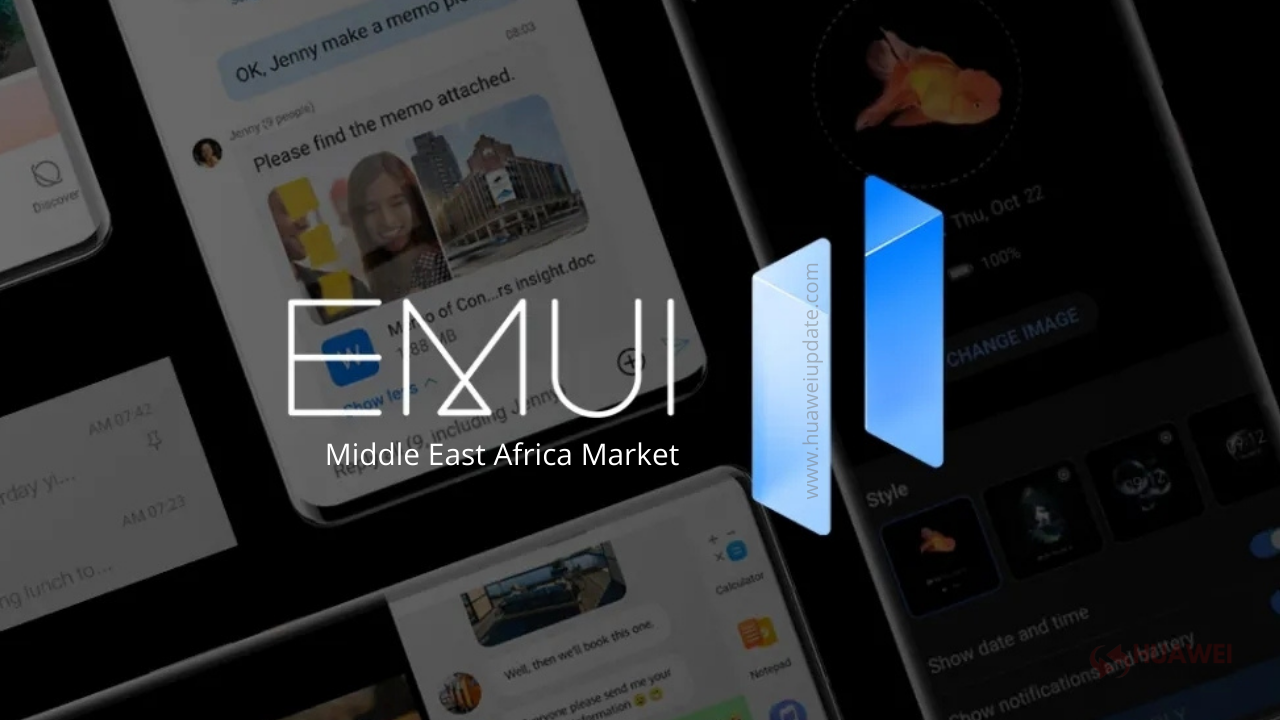 EMUI 11 update in the Middle East Africa Market