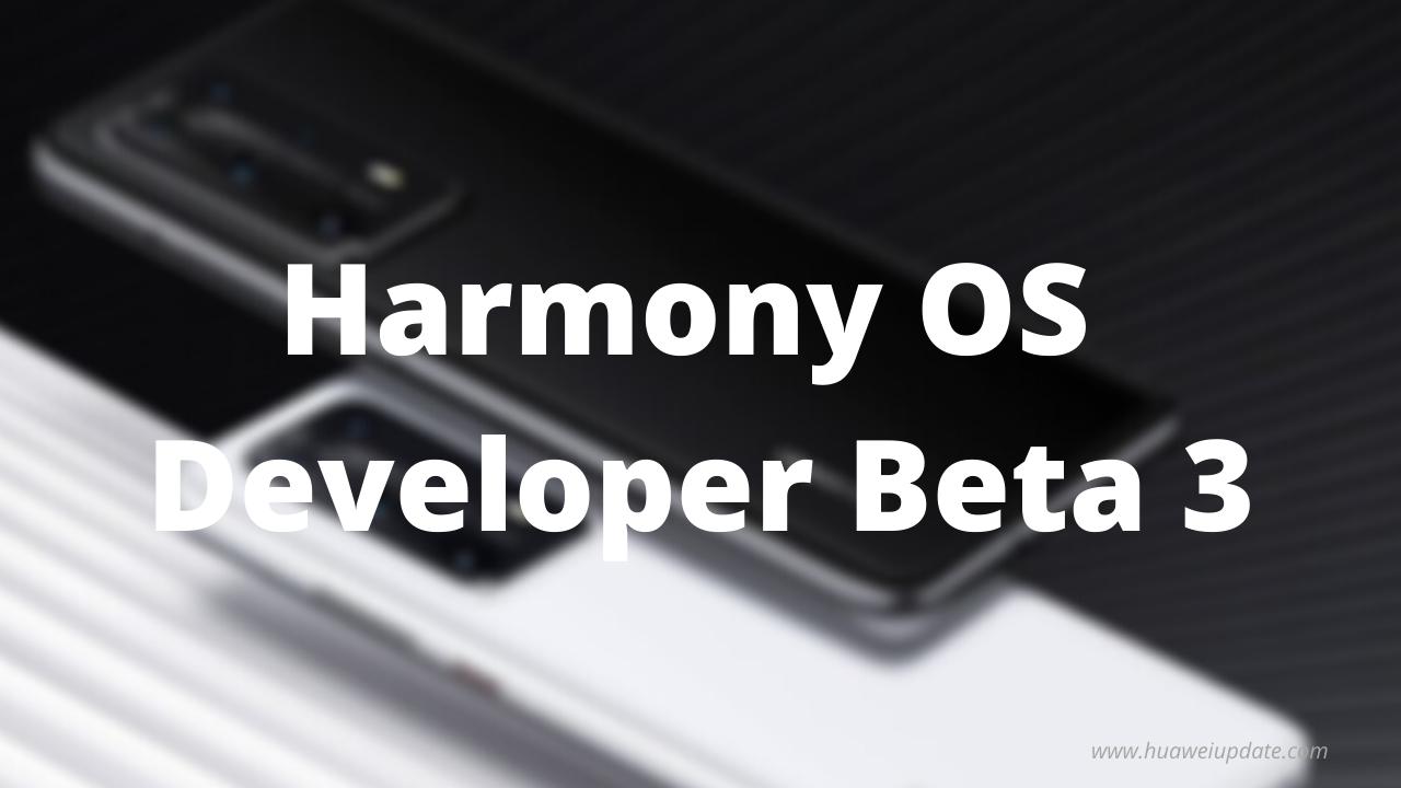 Huawei Hongmeng OS Beta 3