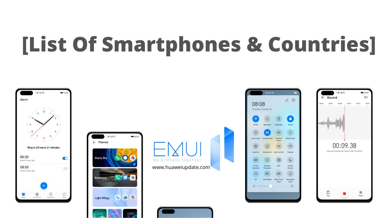 EMUI 11 Countries Update