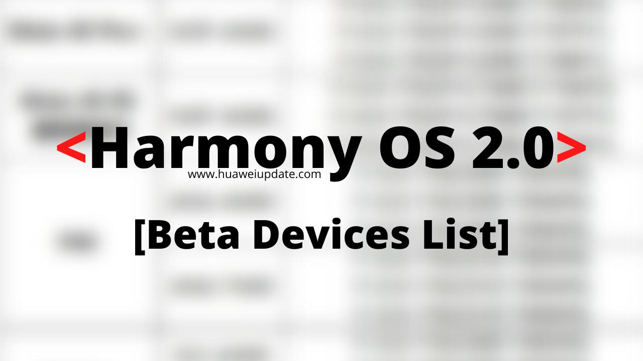 Huawei HarmonyOS 2.0 developer Beta