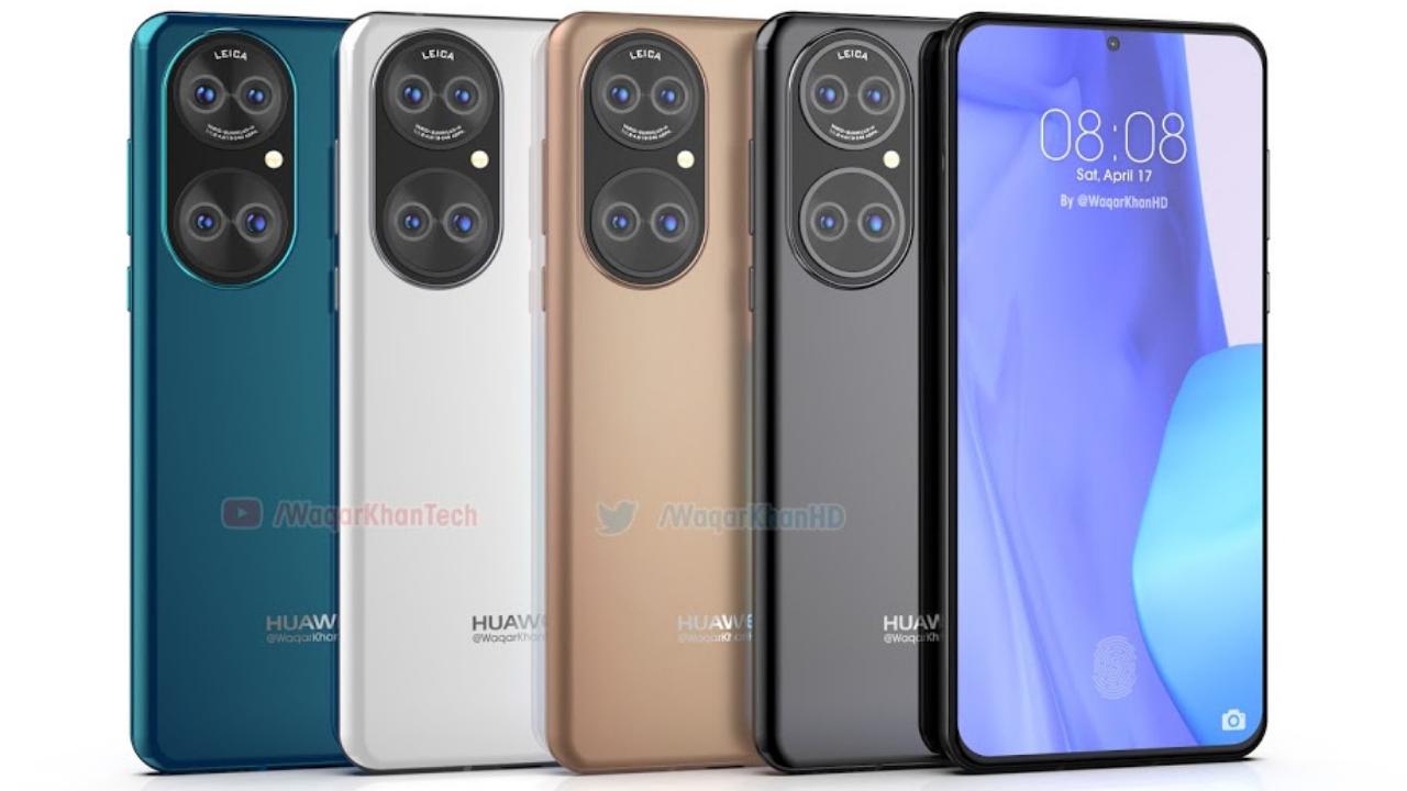 Huawei P50 fresh renders