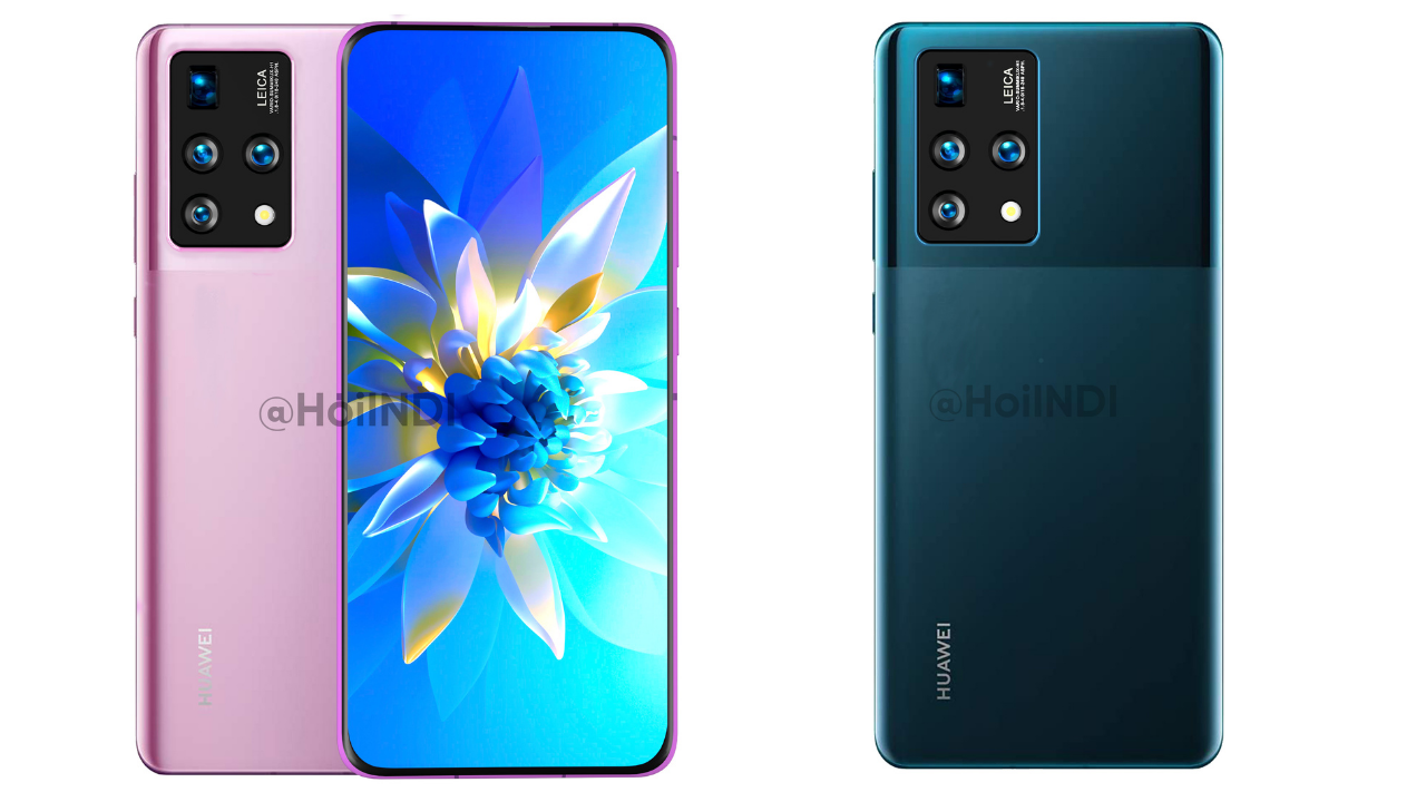 Huawei phone render with full-view display