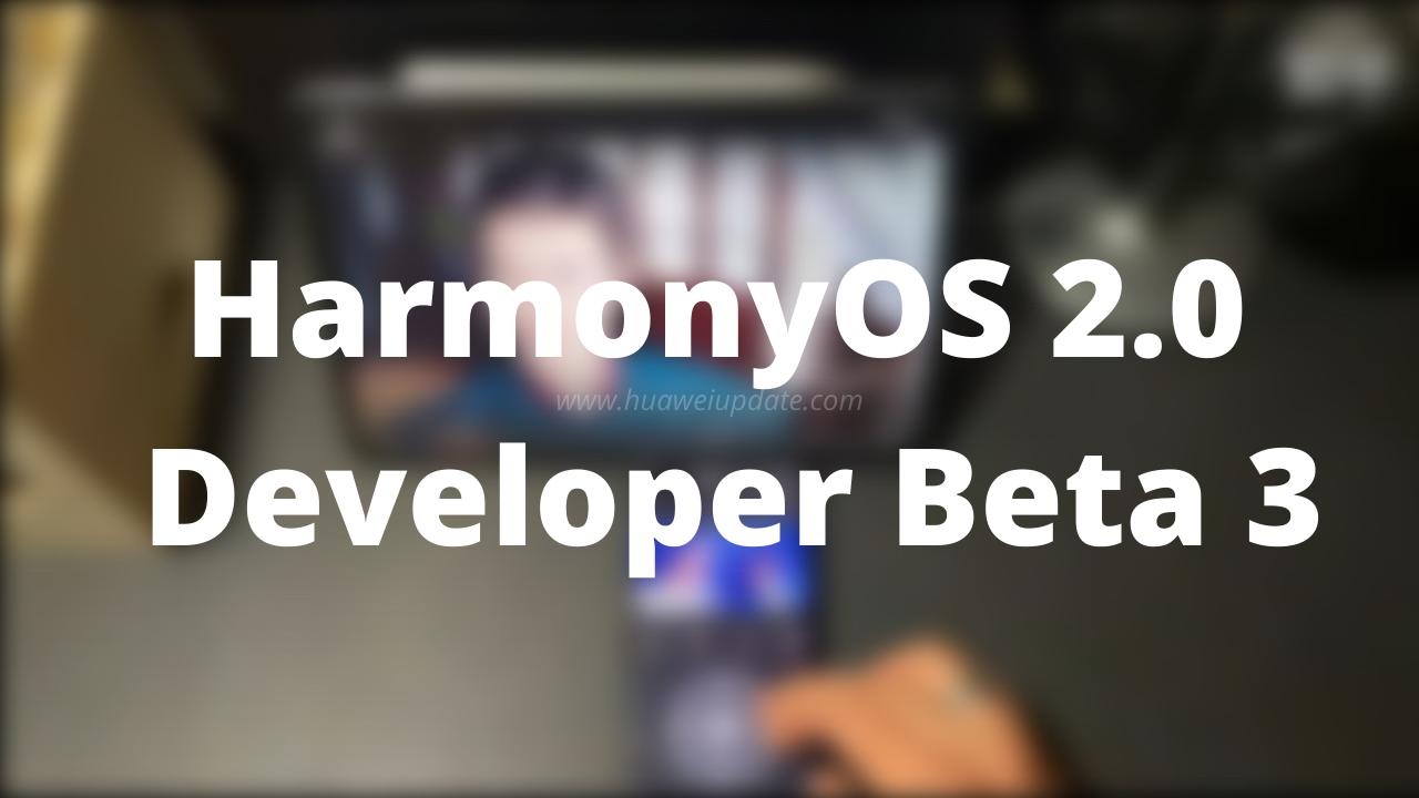 HarmonyOS 2.0 Developer Beta 3