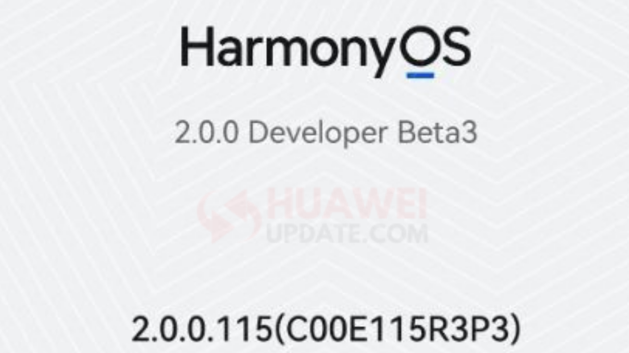 HarmonyOS developer beta 3 version 2.0.0.115