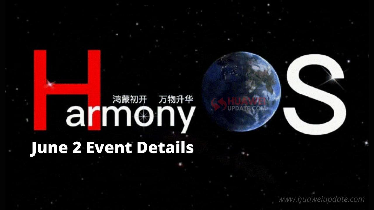 HarmonyOS for smartphones event -June 2,2021