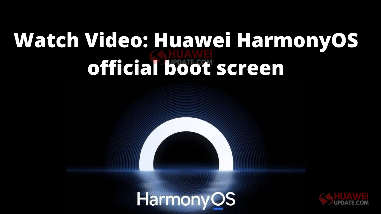 HarmonyOS official boot screen