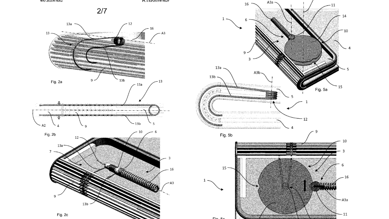 Patent for a hinge assembly in a folding phone