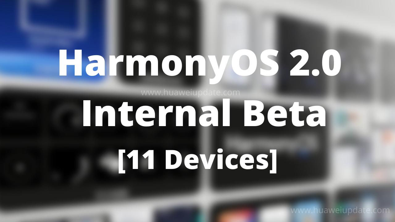 HarmonyOS 2.0 Internal Beta